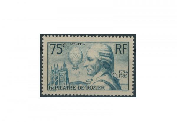 Briefmarke Frankreich 150. Todestag von Jean-François Pilâtre de Rozier 1936 Michel-Nr. 318 postfris