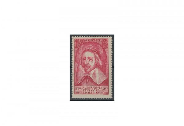 Briefmarke Frankreich 350 Jahre Akademie der Künste und Wissenschaften 1935 Michel-Nr. 301 postfrisc
