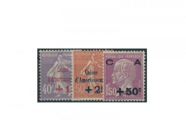 Briefmarken Frankreich Staatsschuldentilgungskasse 1928 Michel-Nr. 232/34 postfrisch