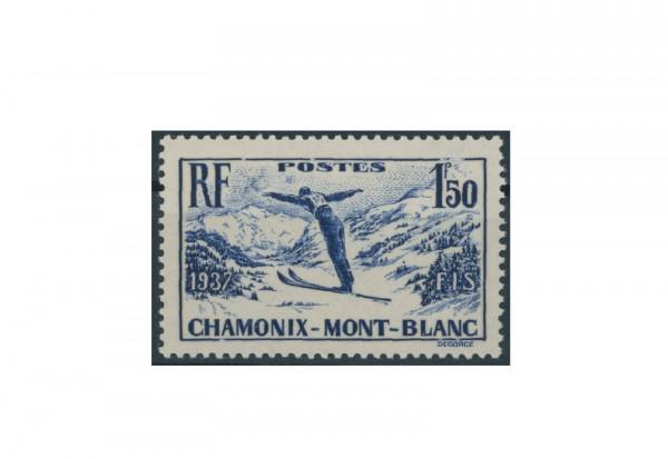 Briefmarke Frankreich Internationale Skimeisterschaften 1937 Michel-Nr. 340 postfrisch