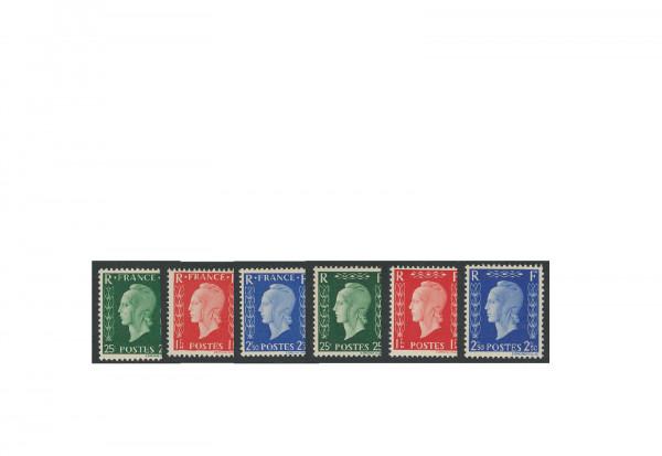Briefmarken Frankreich unverausgabte Raritäten 1942 Michel-Nr. VI a-f postfrisch