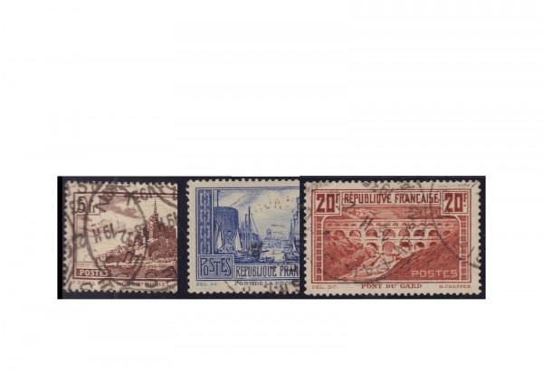 Frankreich Michel-Nr. 240/242 gestempelt