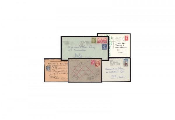 Frankreich Pauschalpaket Briefe/Belege Lot
