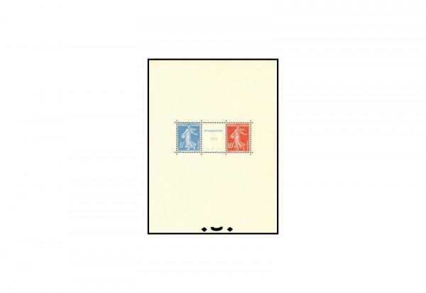 Frankreich Blockausgabe 1927 Ausstellung Straßburg Block 2 postfrisch