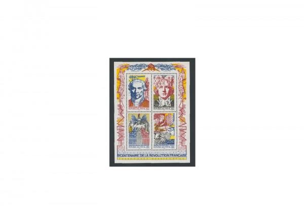 Briefmarken Frankreich Einführung der Trikolore 1990 Block 10 gestempelt