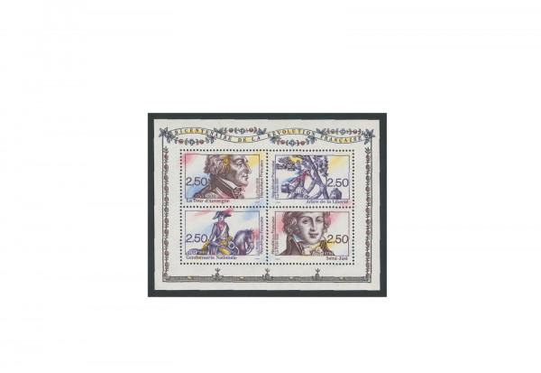 Briefmarken Frankreich 200 Jahre Gendarmerie Nationale 1991 Block 11 gestempelt