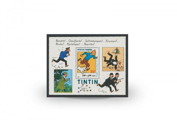 Briefmarken Frankreich 70 Jahre Tintin 2000 Block 22 gestempelt