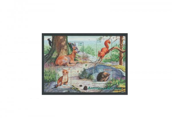 Briefmarken Frankreich Tiere des Waldes 2001 Block 25 gestempelt