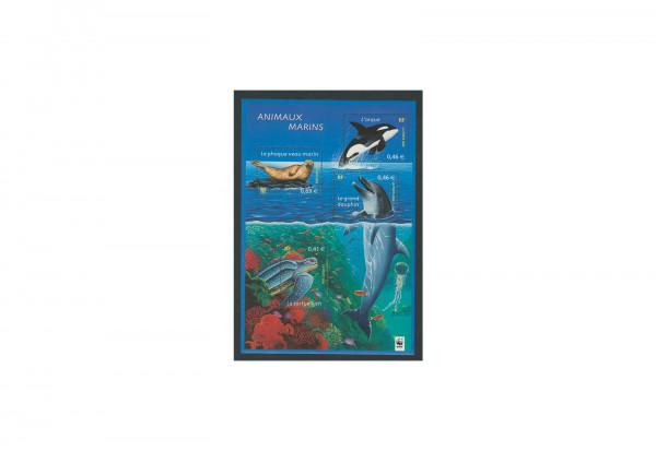 Briefmarken Frankreich Meerestiere 2002 Block 28 postfrisch