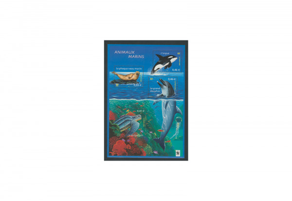 Briefmarken Frankreich Meerestiere 2002 Block 28 gestempelt