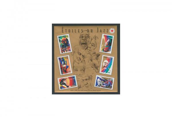 Briefmarken Frankreich Jazzmusiker 2002 Block 29 gestempelt