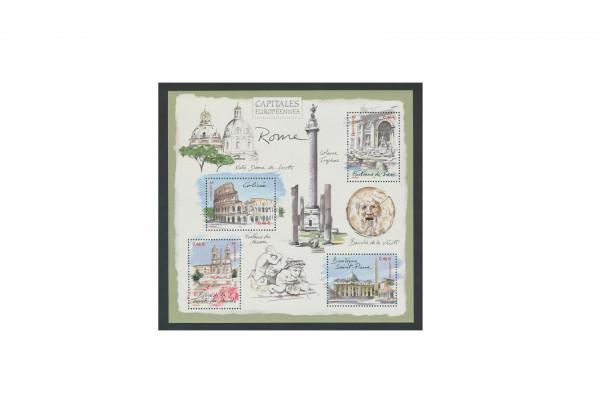 Briefmarken Frankreich Hauptstädte Europas 2002 Block 30 gestempelt