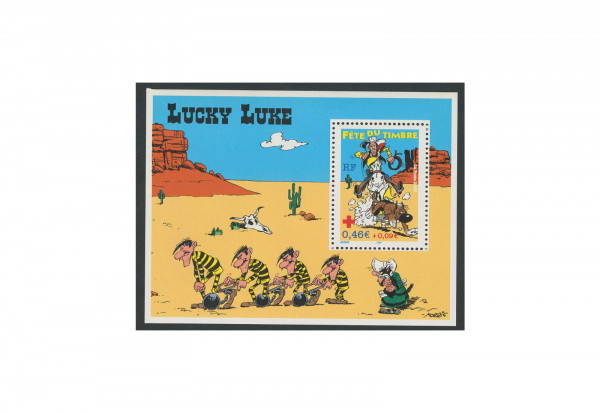 Briefmarke Frankreich Lucky Luke 2003 Block 31 gestempelt
