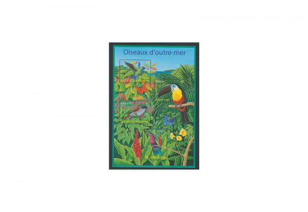 Briefmarken Frankreich Vögel aus Übersee Block 32 gestempelt