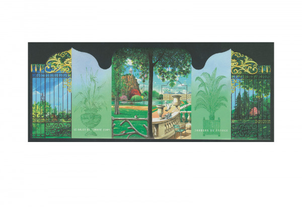 Briefmarken Frankreich Französische Gärten 2003 Block 34 gestempelt