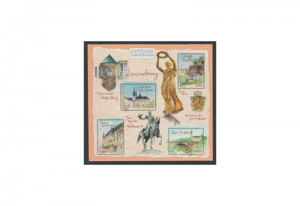 Briefmarken Frankreich Hauptstädte Europas-Luxemburg 2003 Block 36 postfrisch