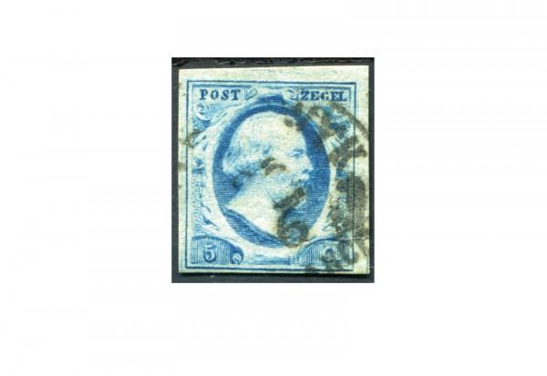 Niederlande Freimarken König Willem III 1852 Michel Nr. 1 gestempelt