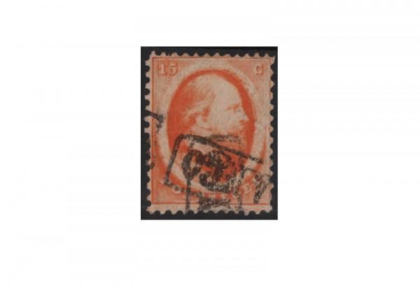Niederlande Freimarken König Willem III 1864 Michel Nr. 6 gestempelt