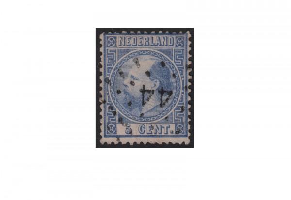 Niederlande Freimarken König Willem III 1867 bis 1870 Michel Nr. 7 gestempelt