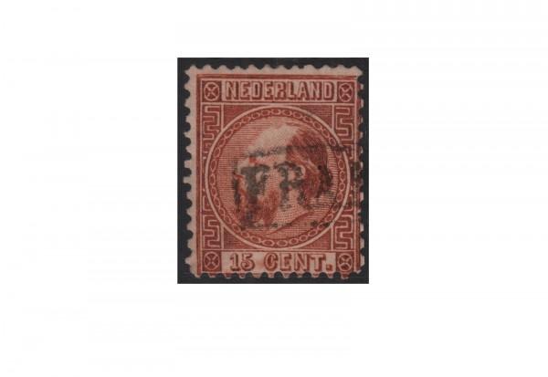 Niederlande Freimarken König Willem III 1867 bis 1870 Michel Nr. 9 gestempelt