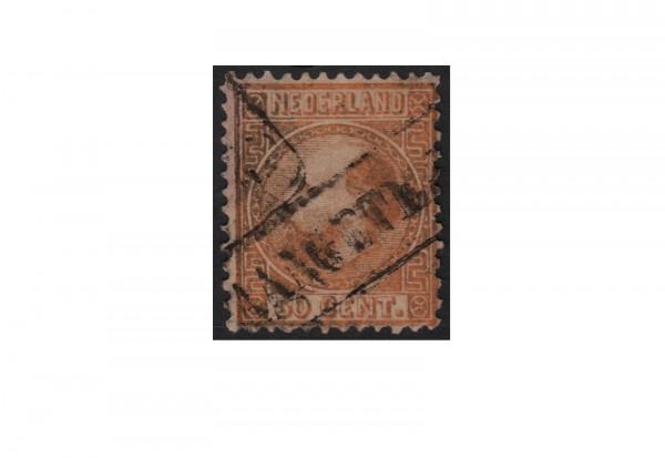 Niederlande Freimarken König Willem III 1867 bis 1870 Michel Nr. 12 gestempelt