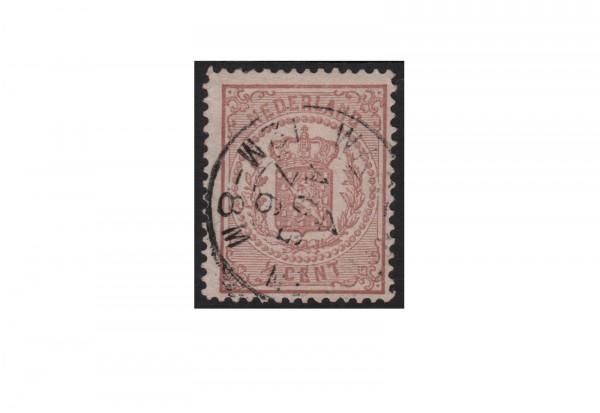 Briefmarke Niederlande Freimarken Reichswappen 1869 bis 1871 Michel-Nr. 13 gestempelt