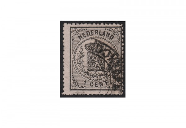 Niederlande Freimarken Reichswappen 1869 bis 1871 Michel Nr. 14 gestempelt