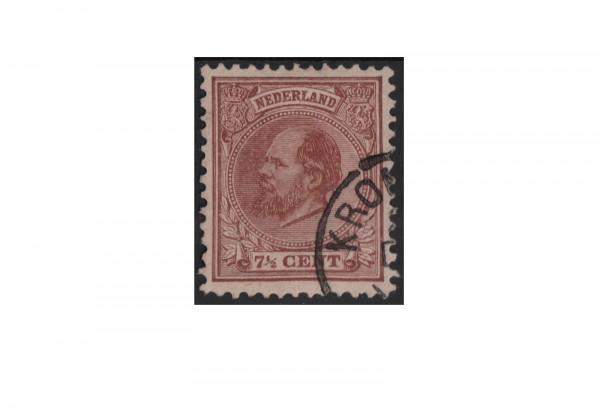 Niederlande Willem III. 1872/1888 Michel-Nr. 20 gestempelt