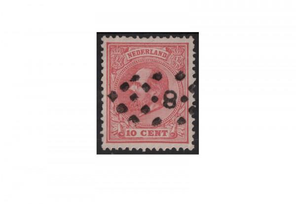 Niederlande Willem III. 1872/1888 Michel-Nr. 21 gestempelt