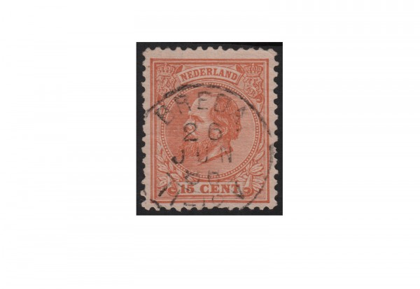 Niederlande Willem III. 1872/1888 Michel-Nr. 23 gestempelt