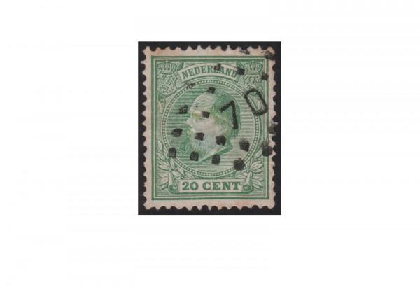 Niederlande Willem III. 1872/1888 Michel-Nr. 24 gestempelt