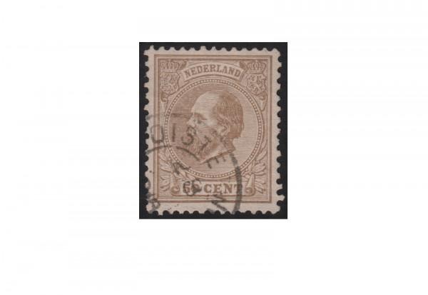 Niederlande Willem III. 1872/1888 Michel-Nr. 27 gestempelt