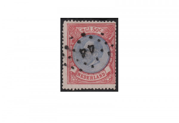 Niederlande Willem III. 1872/1888 Michel-Nr. 29 gestempelt