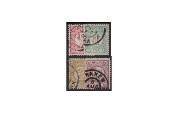 Niederlande Freimarken 1876 Michel-Nr. 30/33 gestempelt