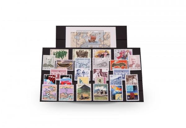 Briefmarken und 1 Block Färöer CEPT 1956-1992 postfrisch