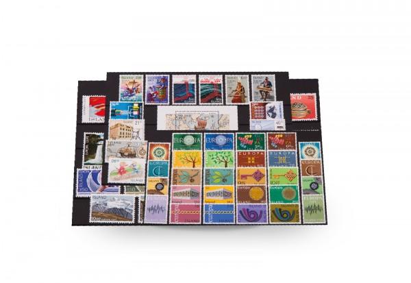 Briefmarken und 1 Block Island CEPT 1960-1992 postfrisch