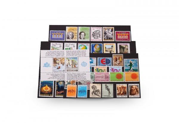 Briefmarken und 1 Block San Marino CEPT 1961-1992 postfrisch
