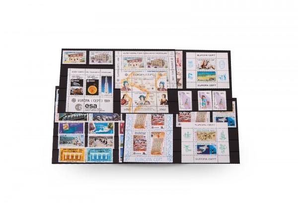 Briefmarken und 6 Blocks Türkei-Zypern CEPT 1975-1992 postfrisch