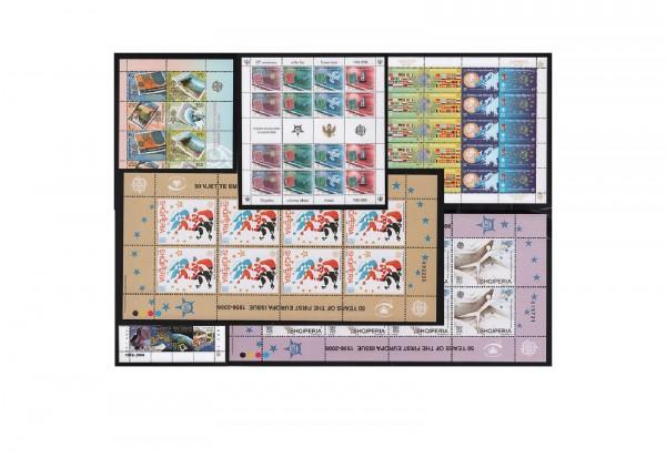 Europa Kleinbogen-Sortiment 50 Jahre Europa Briefmarken 1956-2006 postfrisch