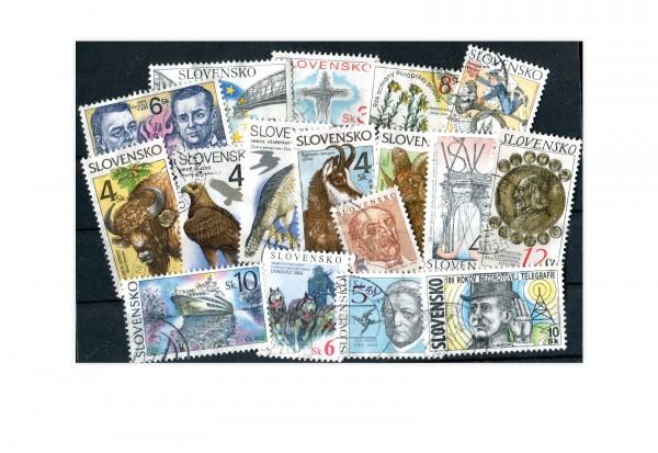 Briefmarken Slowakei 100 verschiedenen Marken ab 1991 postfrisch und gestempelt
