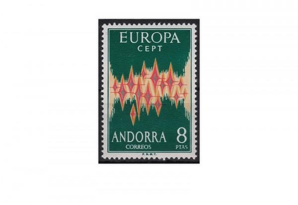 Spanisch-Andorra Europa CEPT 1972 Mi.Nr 71 **