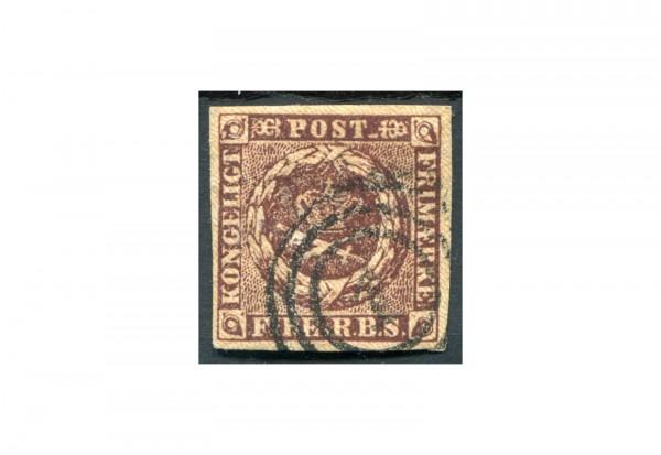 Briefmarke Dänemark Freimarke Kroninsignien 1851 Michel-Nr. 1 gestempelt