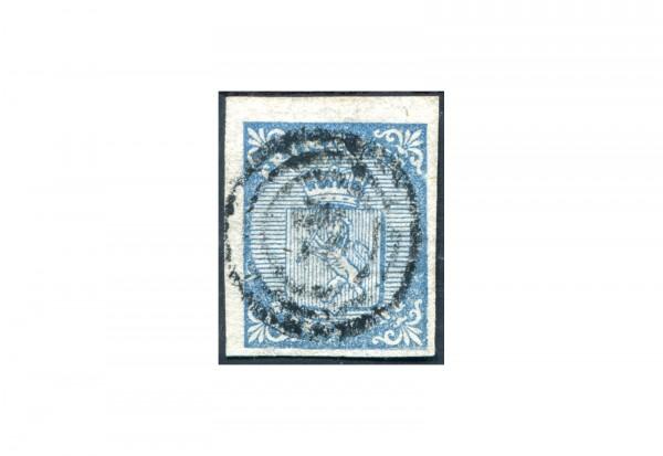 Norwegen Freimarke: Wappen 1855 NOR Michel Nr. 1 gestempelt