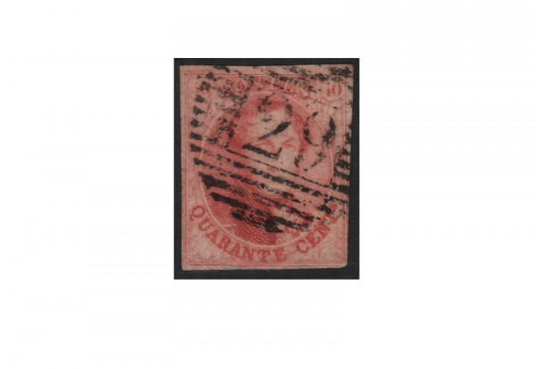 Belgien Leopold I. 1851/1854 Michel-Nr. 5 B gestempelt