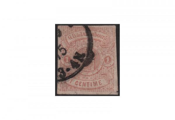 Briefmrke Luxemburg Staatswappen 1859/1863 Michel-Nr. 3 gestempelt