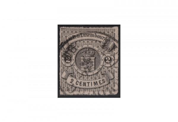 Luxemburg Staatswappen 1865/1871 Michel-Nr. 13 gestempelt