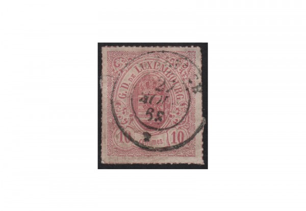 Luxemburg Staatswappen 1865/1875 Michel-Nr. 17 gestempelt