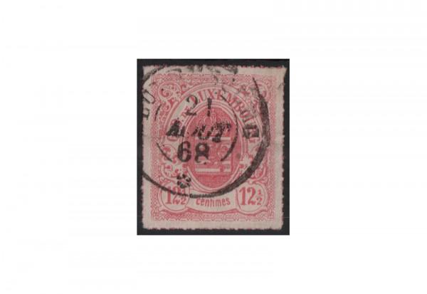 Luxemburg Staatswappen 1865/1875 Michel-Nr. 18 gestempelt