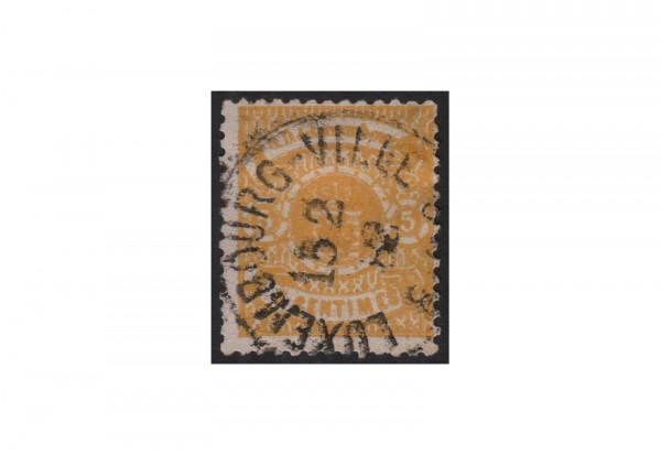 Luxemburg Staatswappen 1875/1879 Michel-Nr. 30 gestempelt