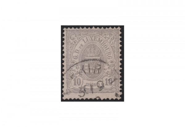 Luxemburg Staatswappen 1875/1879 Michel-Nr. 31 a gestempelt